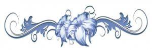 Tribal Blue Flowers Band Tattoo #temporarytattoos #temporarytattoo #t4aw