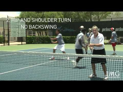 How to Play Tennis - The Fundamentals of the Volley by IMG Academy Bollettieri tennis program - YouTube