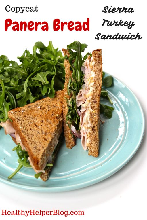 Copycat Panera Bread Sierra Turkey Sandwich from Healthy Helper Blog...the healthy, homemade alternative to your favorite Panera sandwich! [healthy, whole foods, clean eating, sandwich, lunch, dinner, meal, easy recipe, healthy recipe, high protein, healthy food]