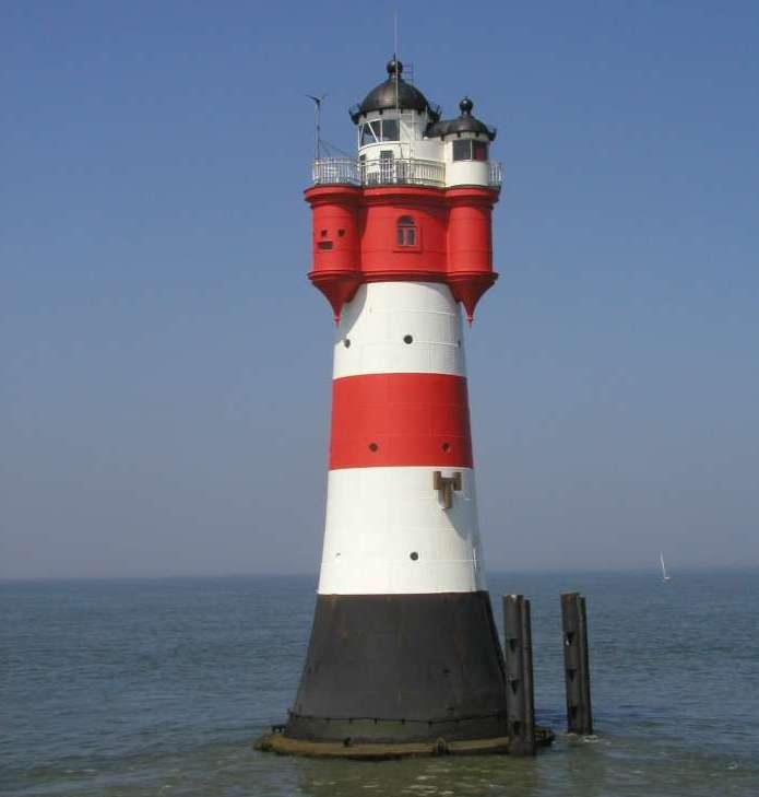 Roter Sand Lighthouse, Bremerhaven, Germany .