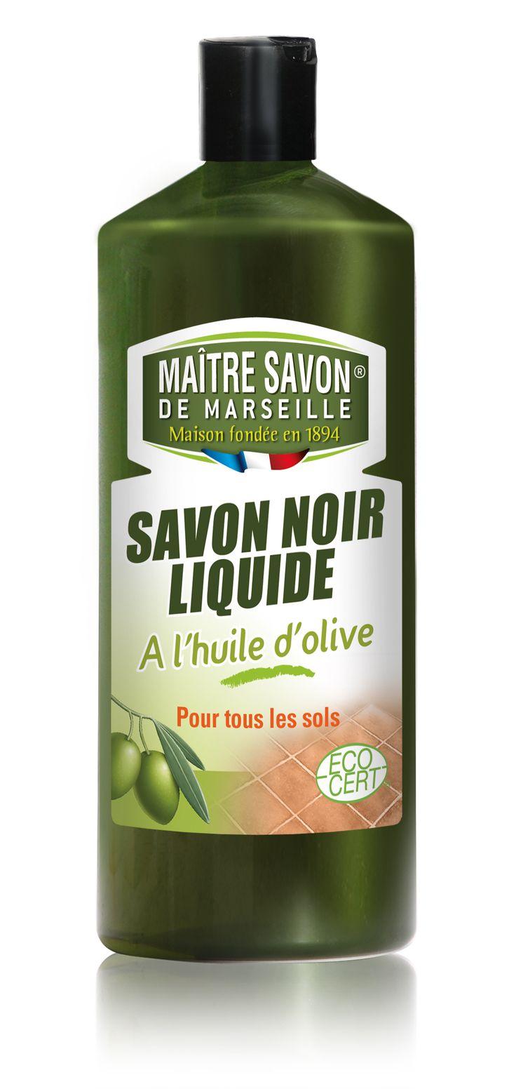 Savon noir Liquide 1L Maître Savon de Marseille Olive