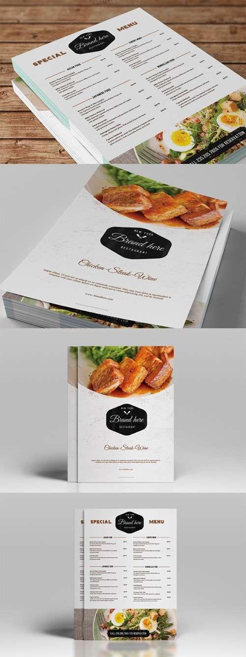 CreativeMarket - Vintage Food Menu 53008