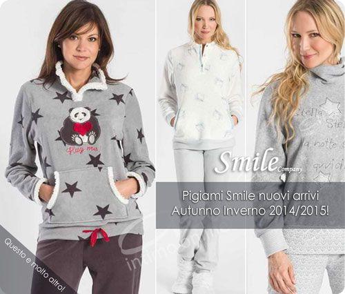 Pigiami Smile: tra pigiami da donna divertenti ed economici in pile, coral e morbida viscosa http://www.atyintimoonline.it/160-pigiami-donna-invernali