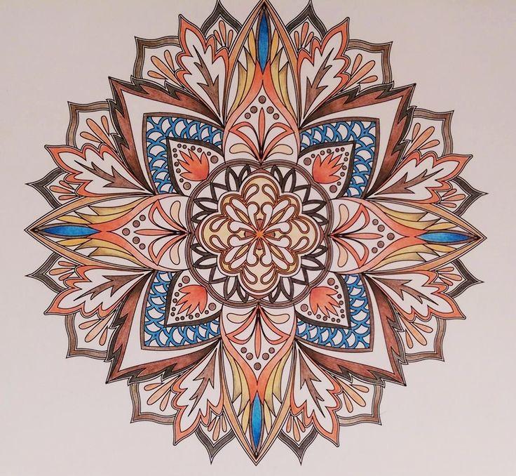 ColorIt Mandalas to Color Volume 1 Colorist: Kim Vergon #adultcoloring…