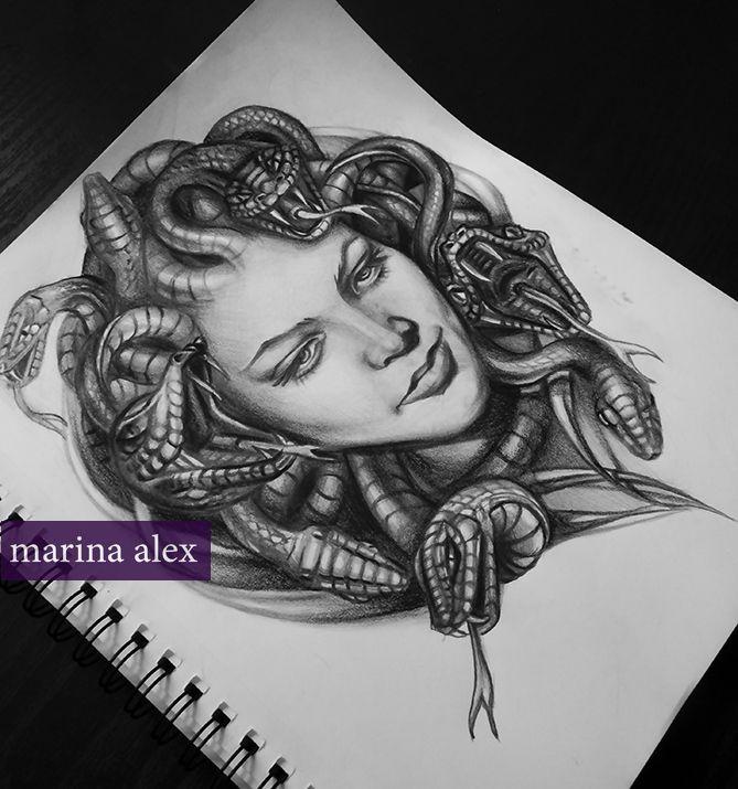 Medusa Illustration Tattoo: Medusa Design For The Tattoo Next Week. #tattoos #medusa