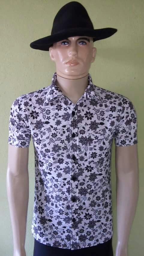 Camisa Masculina Floral Preta Alfaiatelie