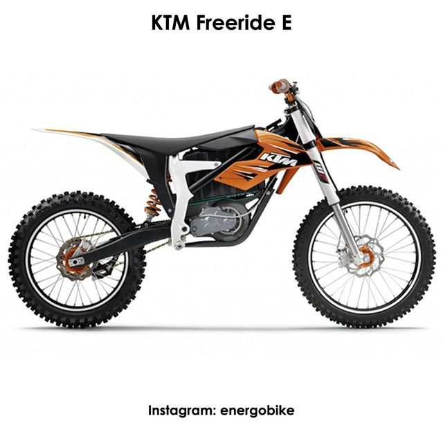KTM Freeride E Это первый электромотоцикл фирмы KTM, известной своими раллийными моделями и являющейся безусловным лидером в этой области.  Максимальный запас хода - один час. Максимальная мощность: 22 кВт (30 л.с.) Максимальная скорость: 75 км/ч Время зарядки: 1.5 ч Масса: 92 кг. #instabike #biker #motorbike #bikelife #bike #moto #motogp #motorbike #sportbike #motolife #superbike #bikestagram #electricmotorcycle #electricbike #cycle #instamoto #instabike #monsterenergy #motocycle…