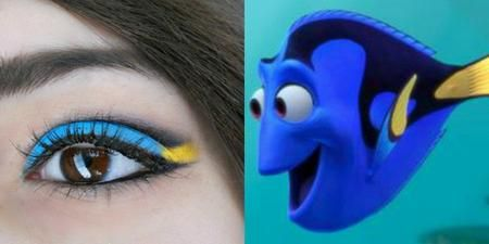 Dory Inspired Makeup -- This is adorable.
