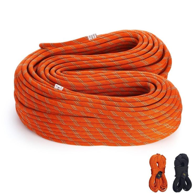 24-38KN Static Rope Outdoor Climbing Rescue Caving Drifting Safety Rappelling Rope, 10M/pcs