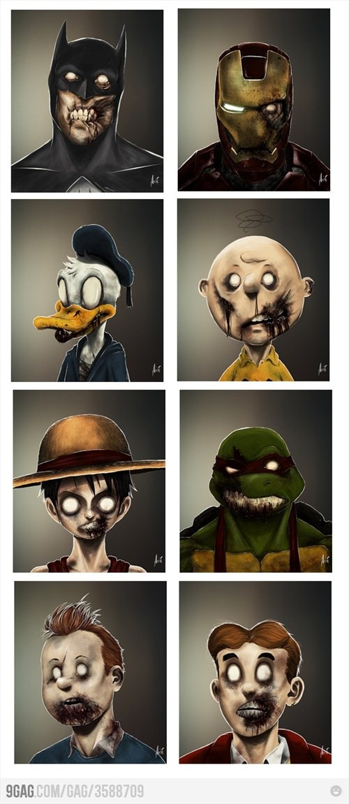 Zombie cartoon characters | My lil corner of my house and ...