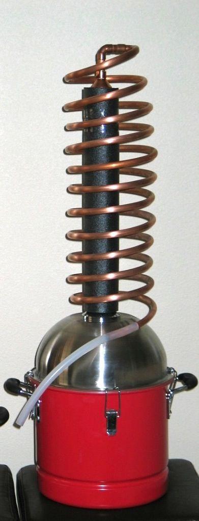 Love Water Distiller ~ My new supercoil distiller design air cooled simpler