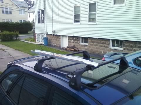 Check out my homemade roof-mounted bike rack: Triathlon Forum: Slowtwitch Forums