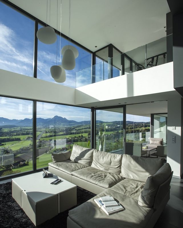 IDEeA Interior DEsign e Architettura Villa F sul Lago della Gruyère, Avry-Dt-Pont, Friburgo, Svizzera