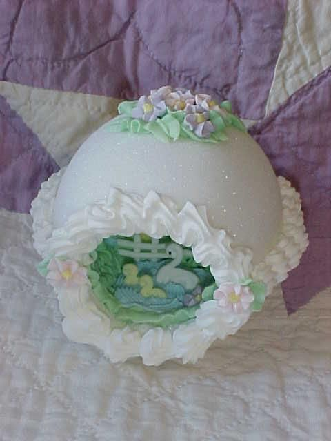 vintage sugar panorama egg ~ I remember my grandma having some of these out at Easter time...