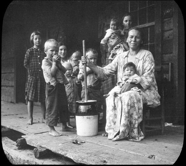 1940's appalachia | Butter-making, Appalachia, USA, c1917. Photograph taken during Cecil ...