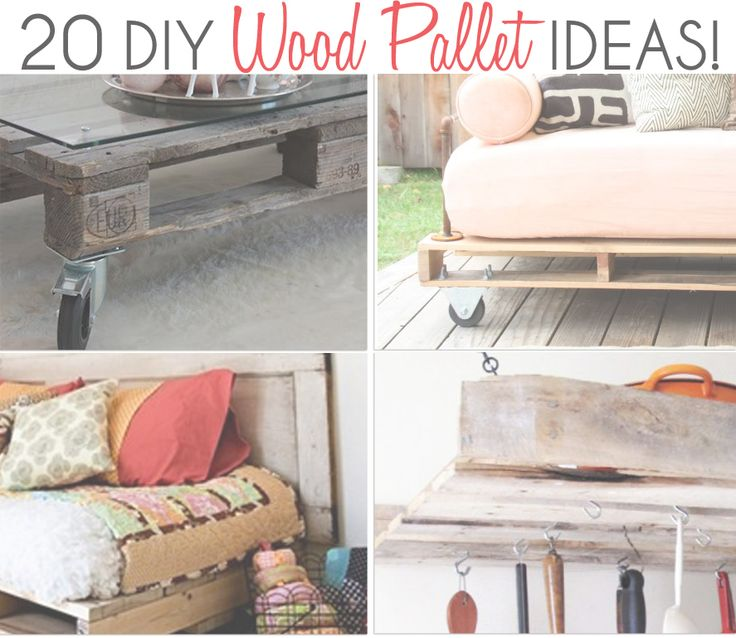 Do you have some extra wood pallets laying around and don't know what to do with them? Come take a look at this website to get inspired. It has everything you could possibly need to start a new home project!
