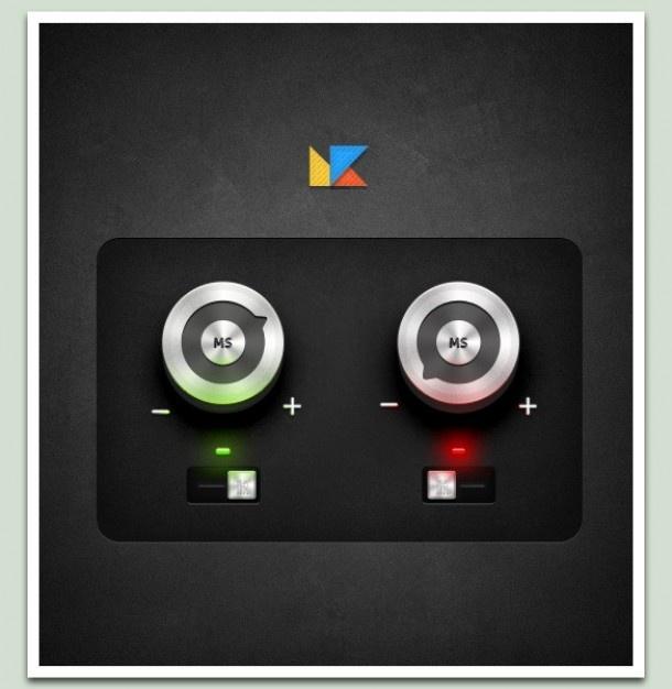 Stylish control knobs & toggle switches set