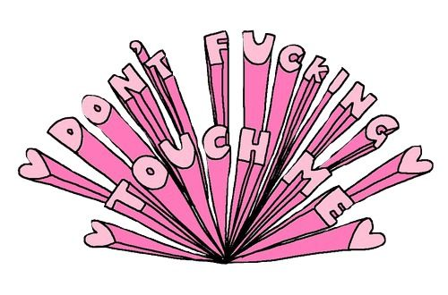 kawaii, grunge, pink, saying, hearts