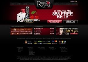 Ruby Royal Casino uses the Rival Gaming software. The welcome bonus package at Ruby Royal Casino kicks in with a cool no deposit bonus of 888 free credits that players need to use up in 30 minutes.