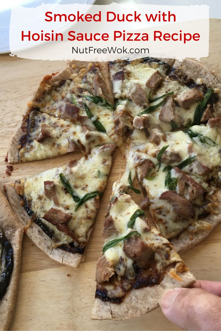 ThisSmoked Duck with Hoisin Sauce Pizza Recipe is inspired by a Peking Duck Pizza that I used to order at California Pizza Kitchen (CPK). Smart Flour Foods reached out to me