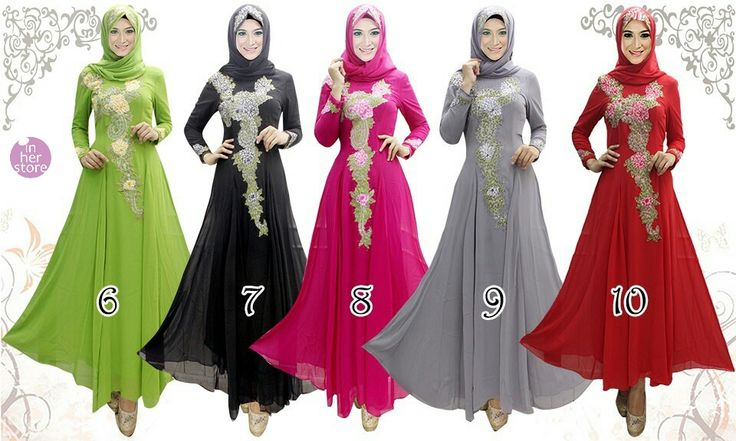 Dress Muslimah by In Her Store Indonesia – Arana Series Material : Chiffon Cerutti Size : M – L – XL - XXL Retail Price : Rp 350rb/pc (Include Hijab) Reseler Price : Rp 325rb/pc (min.3pcs, mix size & colours allowed) PIN : 56EC4B97 Line : go2dika