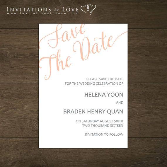 Printable Save the Dates  Custom Digital Save by InvitationsToLove