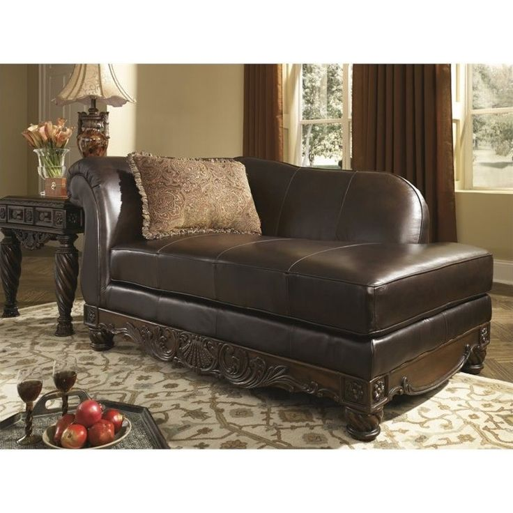 Ashley North Shore Leather Right Chaise Lounge