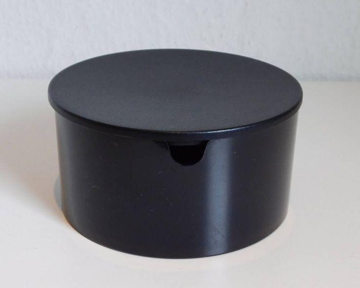 Arne Jacobsen, Stelton sugar bowl, black by SilverfernDK on Etsy