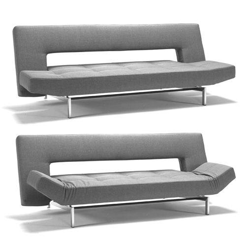 Светло-серый диван с откидной спинкой и регулируемыми подлокотниками с металлическим каркасом можно купить в интернет-магазине на сайте https://lafred.ru/catalog/catalog/detail/36917354290/