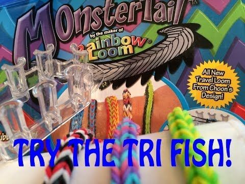NEW Rainbow Loom Monster Tail Review and Tri Fish Tail Bracelet - YouTube