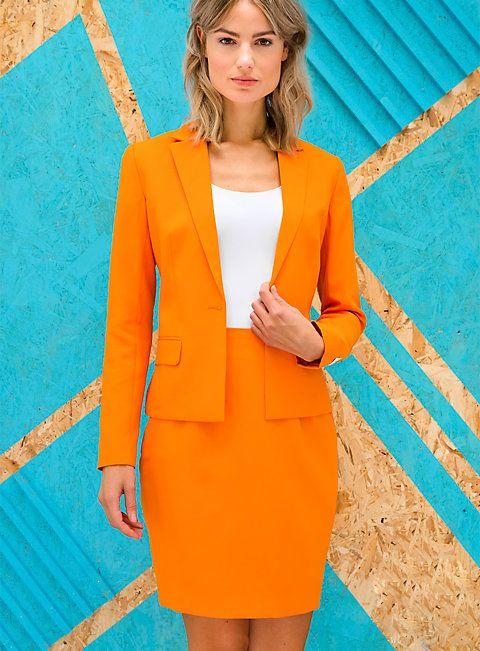 OppoSuits Foxy Orange Damen Anzug von maskworld.com - jetzt auch OppoSuits für Frauen