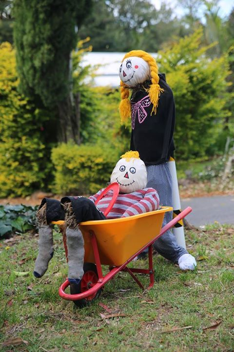 The Tamborine Mountain Scarecrow Festival is an annual event to celebrate the great lifestyle we enjoy on the Mountain and want to share with our visitors. One of the scarecrows in the 2014 festival.