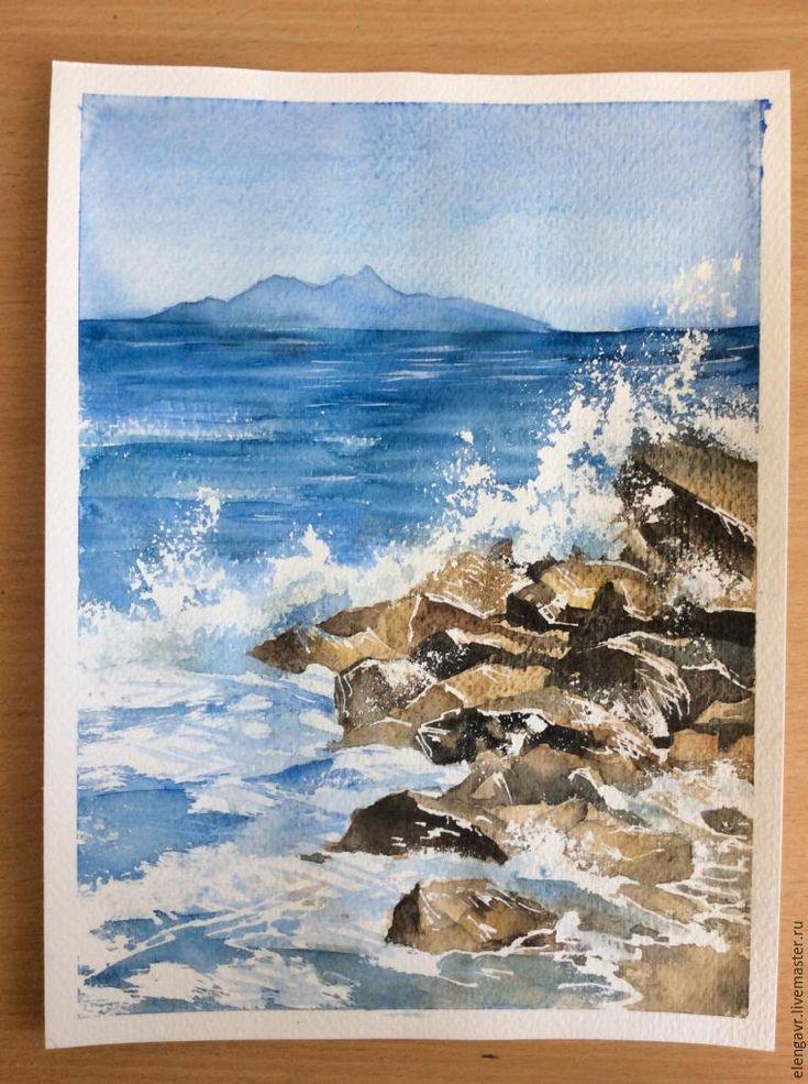 Рисуем морские брызги акварелью - Ярмарка Мастеров - ручная работа, handmade