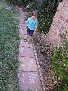 ABC sidewalk game