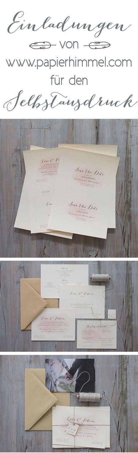 #hochzeitseinladungen Von Www.papierhimmel.com #einladungen, #hochzeit, # Hochzeitskarten