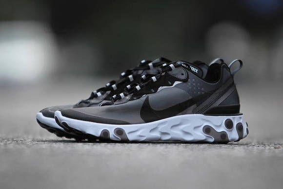 da1c6cb2f3c8 Nike React Element 87 Look White Black Jun Takahashi UNDERCOVER  Sneakers