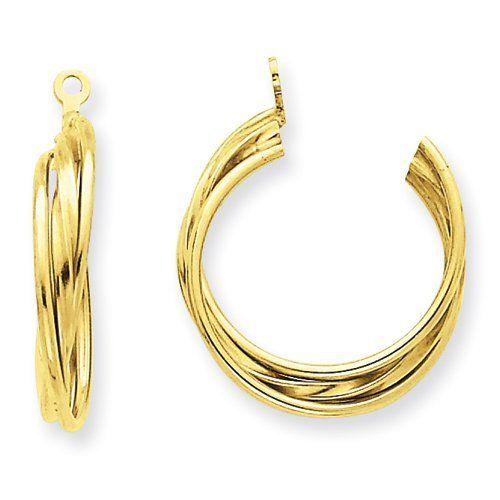 14k Polished Hoop Earring Jackets Jewelry Adviser Earrings 114 56 Save 60 Off