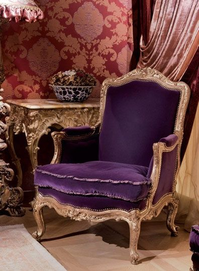 Parigi Armchair In Purple Velvet By Provasi ❤❦♪♫