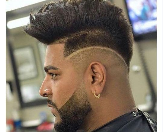 Pompadour Fade Haircuts 2018 https://www.menshairstyles2018.com/pompadour-fade-haircuts-2018/ #Hair #Styles #HairStyles #PompadourHairCuts #FadeHairCuts