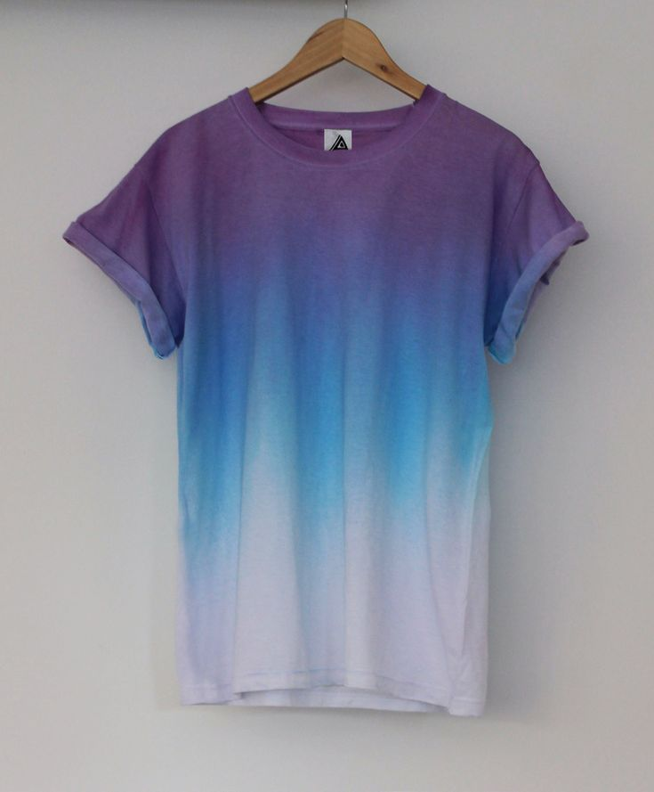 Purple Blue Horizon Dip Dye Tee | ANDCLOTHING