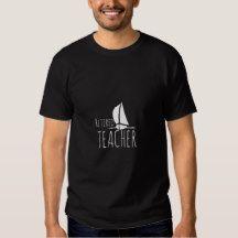 Custum Retired Teacher (personalize profession) Sailing Boat #Funny Typography T-Shirt #Retirement Shirt