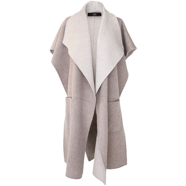 Tibi Reversible Wool Coat (6,180 CNY) ❤ liked on Polyvore