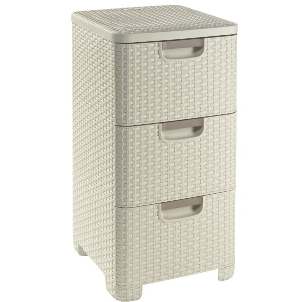 "Curver - - ""Style"" 3 Drawer Tower Unit"