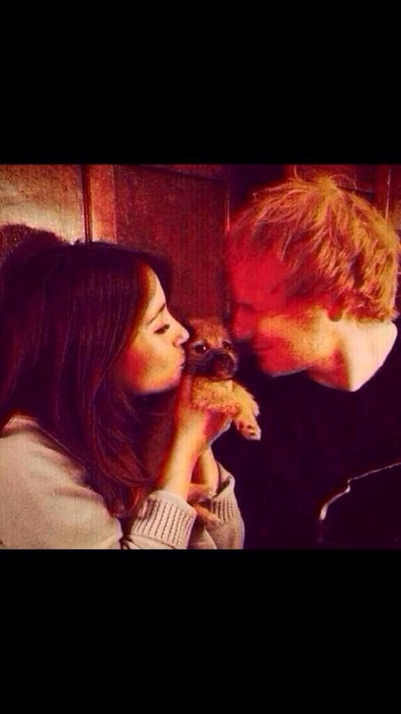 Ed and his girlfriend Athina Andrelos as much as this pains me they are super adorable