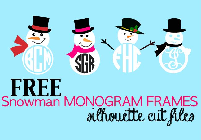 It's Friday and this week I'm sharing an adorable free set of snowman monogram frames with you! The best part is these Silhouette-friendly designs come with the commercial license. This is a sponsored
