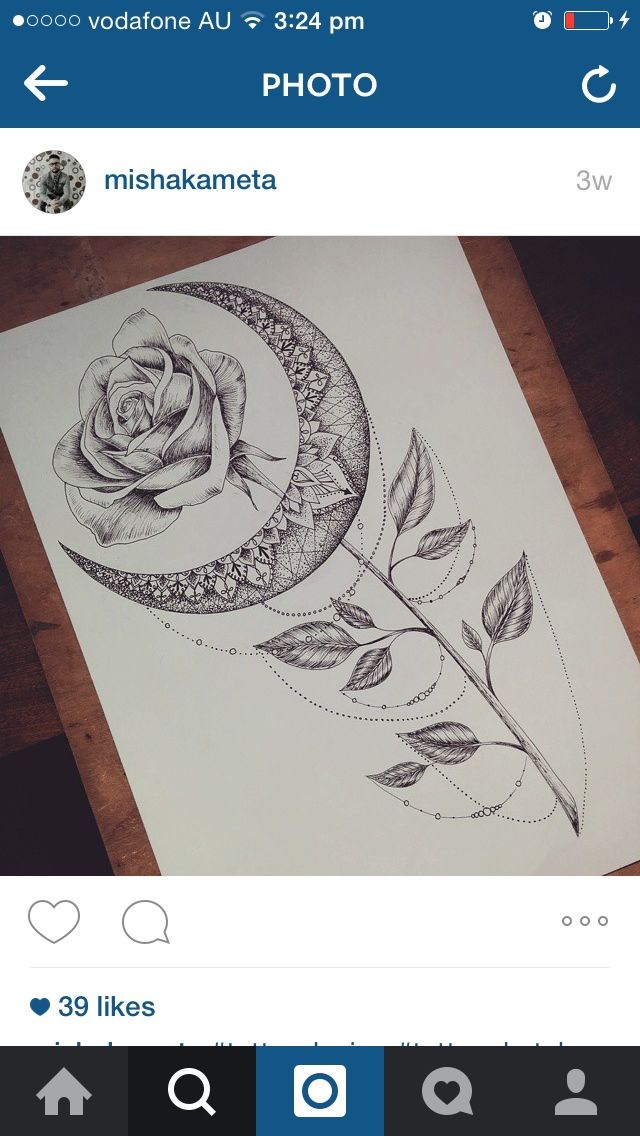 Moon tattoo inspo