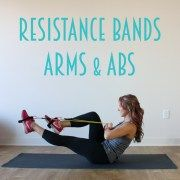 No need for hundreds of crunches - tone up your middle and sculpt sexy, flat abs with this Resistance Band Ab Workout!