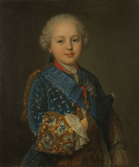 Louis-Auguste de France, duc de Berry (1754-1793), the future Louis XVI, by Fredou. Louis-Auguste was the third son and the fourth surviving child of Dauphin Louis Ferdinand and Dauphine Marie-Josephe de Saxe and ruled as Louis XVI then Louis, King of the French from 1774-1792.