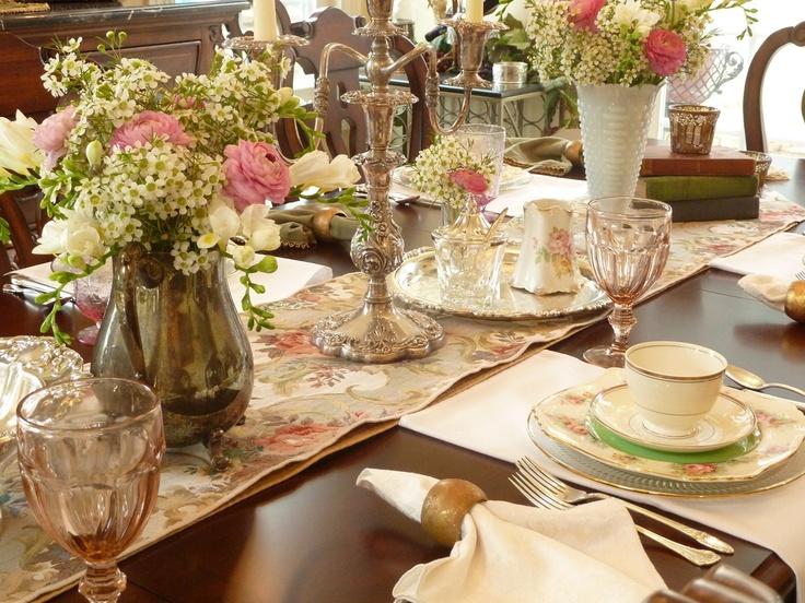 20 best Elegant Tables images on Pinterest   Harvest table ...