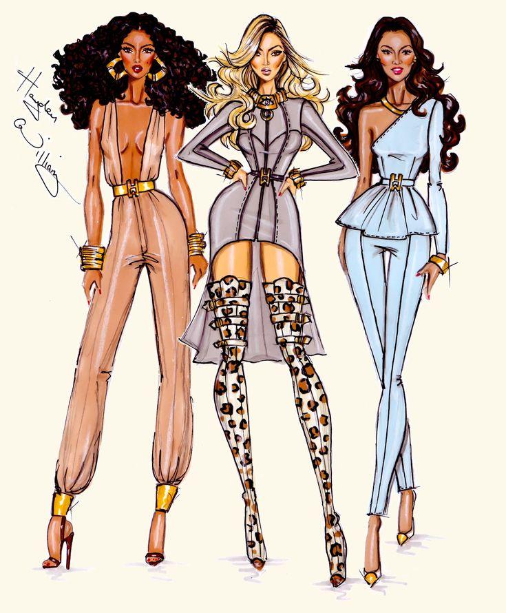 #Hayden Williams Fashion Illustrations  #Destiny's Child by Hayden Williams